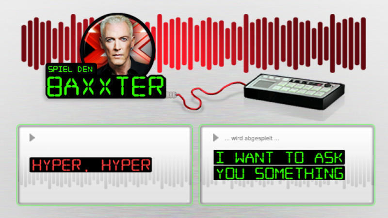 X Factor 2012 Baxxter Soundboard