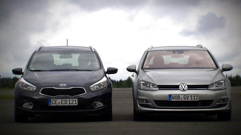 VW Golf Variant vs. Kia cee'd Sportswagon