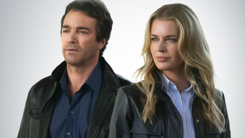 King & Maxwell: Sean King (Jon Tenney), Michelle Maxwell (Rebecca Romijn)