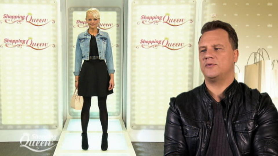 Shopping Queen-Kandidatin Maggy auf dem Catwalk