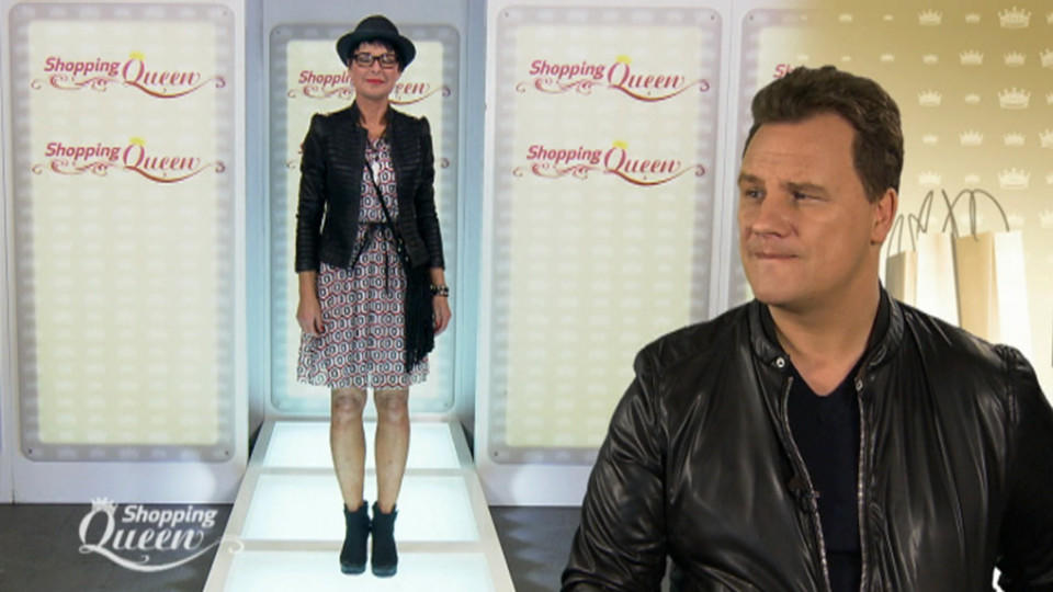 "Christine auf dem Catwalk bei ""Shopping Queen"""