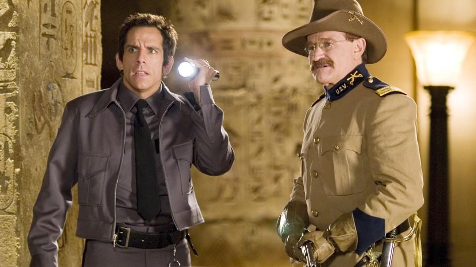 Larry (Ben Stiller, l.), Theodore Roosevelt (Robin Williams) (c) Foto: VOX/Twentieth Century Fox Film Corporation