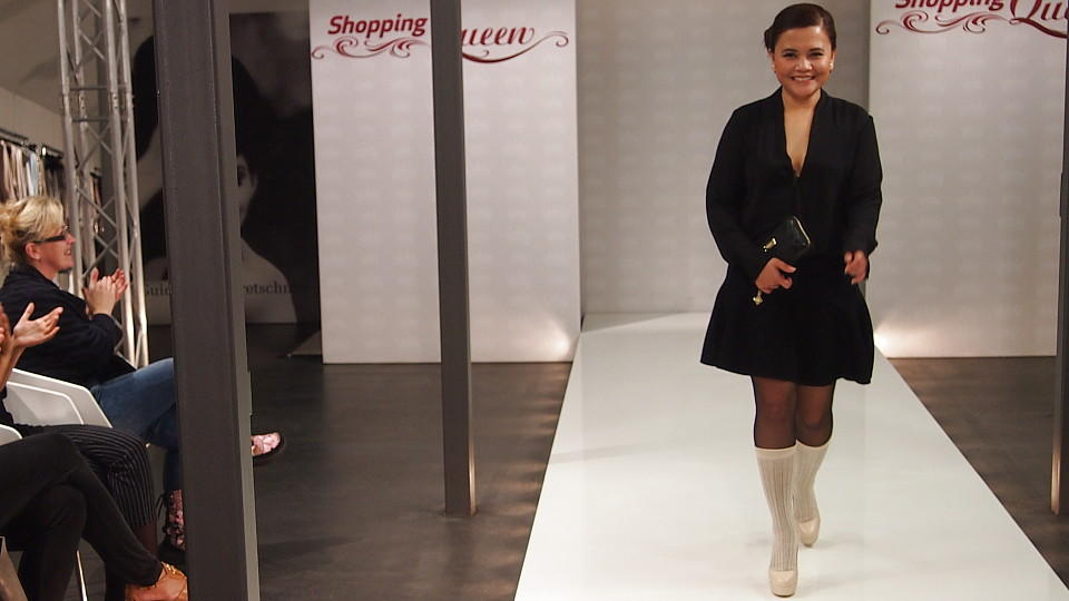 "Natassya punktet mit ""cleanen"" Look auf dem ""Shopping Queen""-Catwalk"