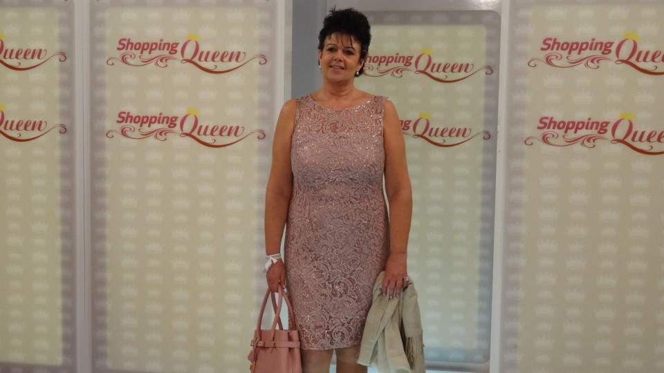 "Jutta auf dem ""Shopping Queen""-Catwalk"
