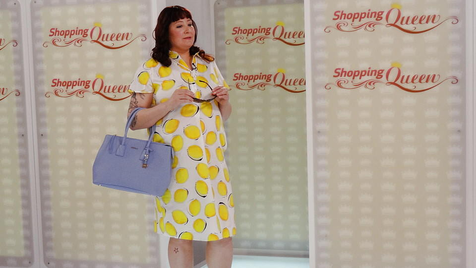 """Shopping Queen""-Kandidatin Ramona auf dem Catwalk"