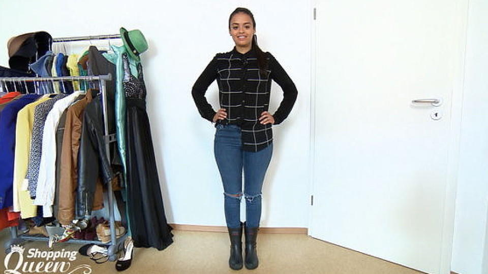 "Cata im Style-Check bei ""Shopping Queen"" in Freiburg"