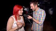 Jochen Schropp backstage mit Eva Karadoukas