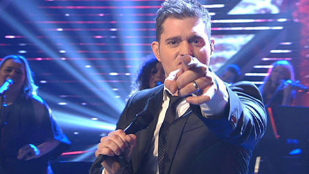 "Showact Michael Bublé mit ""Baby Please Come Home"""